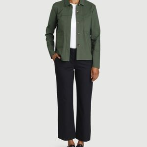 Kit and Ace Black Cropped Wide Leg Trousers